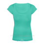 Aqua Blue Scoop Neck 1