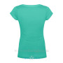 Aqua Blue Scoop Neck Back 1