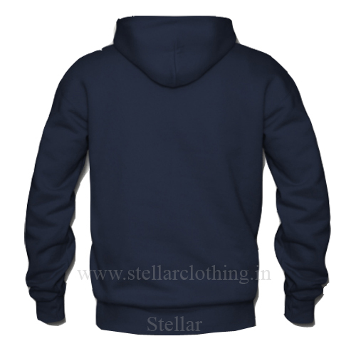 Hooded navy BACK
