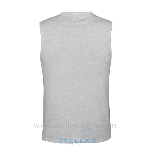 Men's Grey Milange LS Back