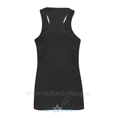 Women's Black Singlet Back