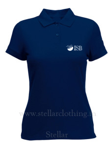 Women's Polo navy ISB
