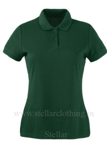 Women's polo green