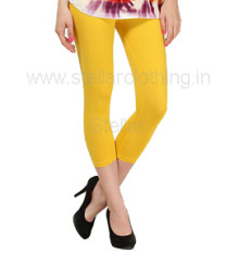 Juliet Solid Yellow Leggings