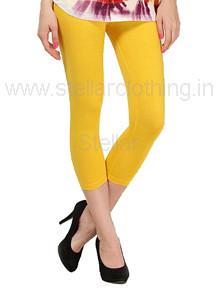 Juliet Solid Yellow Leggings