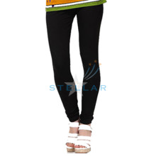 STELLAR BLACK COTTON SPANDEX LEGGINGS