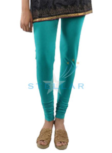 Stellar Cotton Spandex Blue Mix Leggings