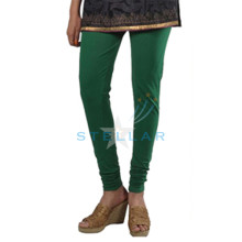 Stellar Solid Green Leggings