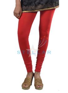 Stellar Solid Red Leggings