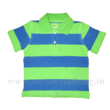 Stripped Polo T-Shirt