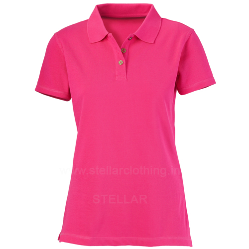 Wholesale women s polo t shirt stellar clothing company for Women s company logo shirts